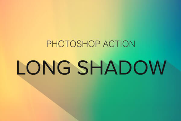 Free Photoshop Actions: Long Shadow