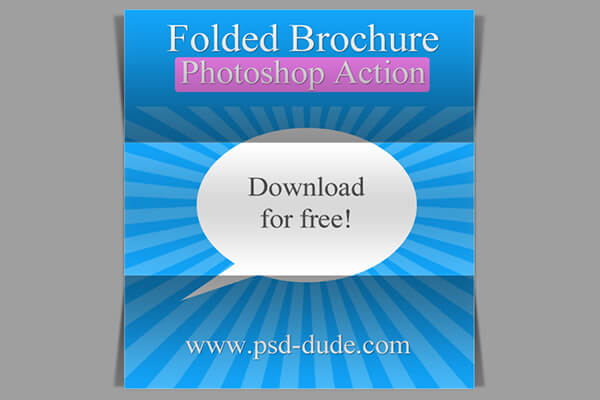 Free Photoshop Actions: Paper Fold