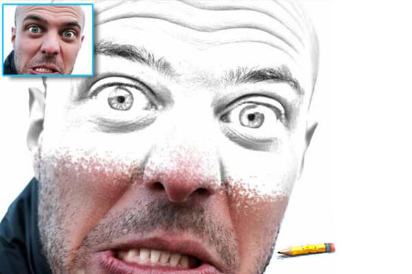 Free Photoshop Actions: Pencil Draw