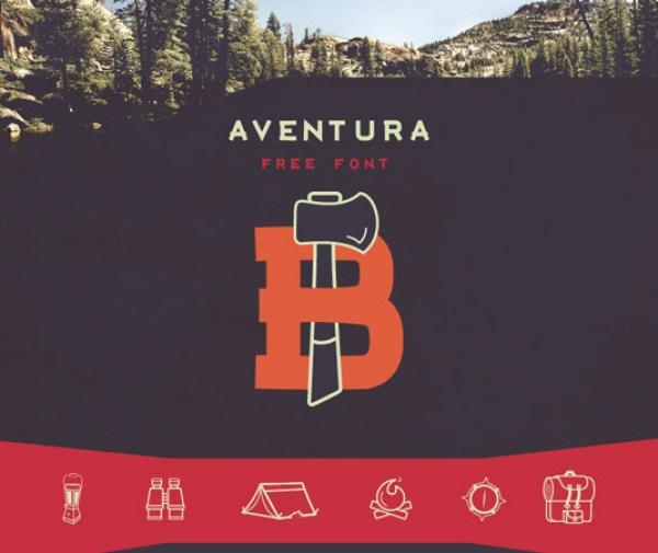 Free font: Aventura