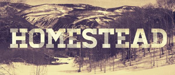 Free font: Homestead