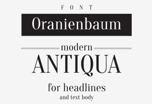 Free font: Oranienbaum