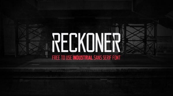 free-typeface-reckoner