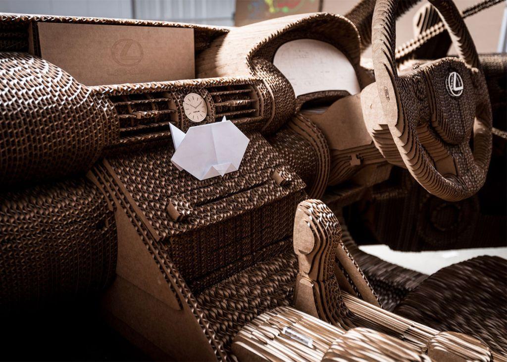 Lexus creates a working cardboard version of its IS sedan