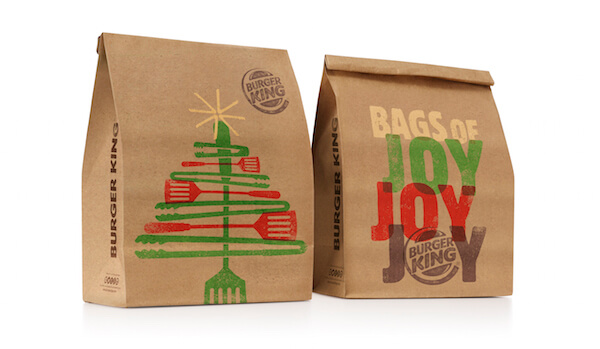 Burger King Illustrated Christmas Packaging