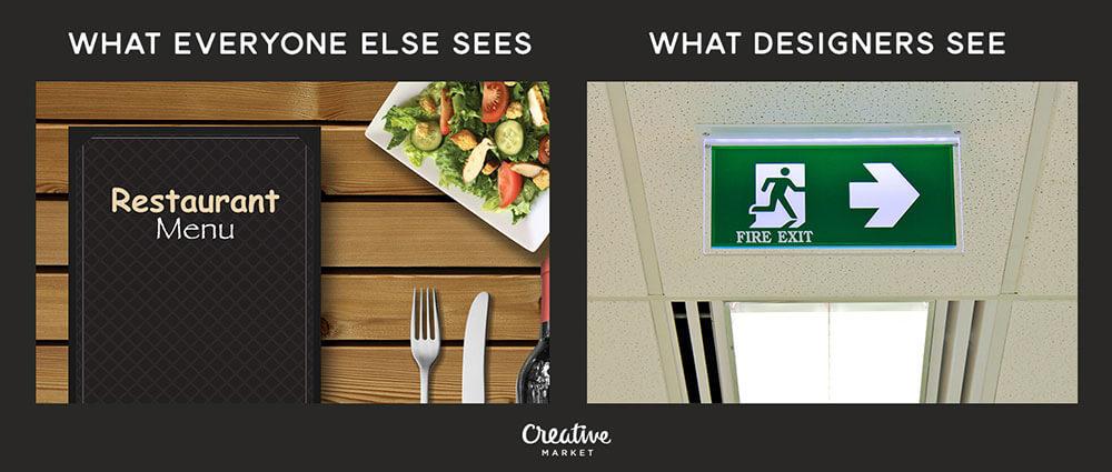 A designer's perspective vs that of non-designers