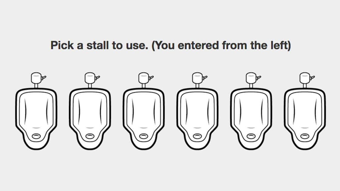 Test your urinal etiquette with this online game
