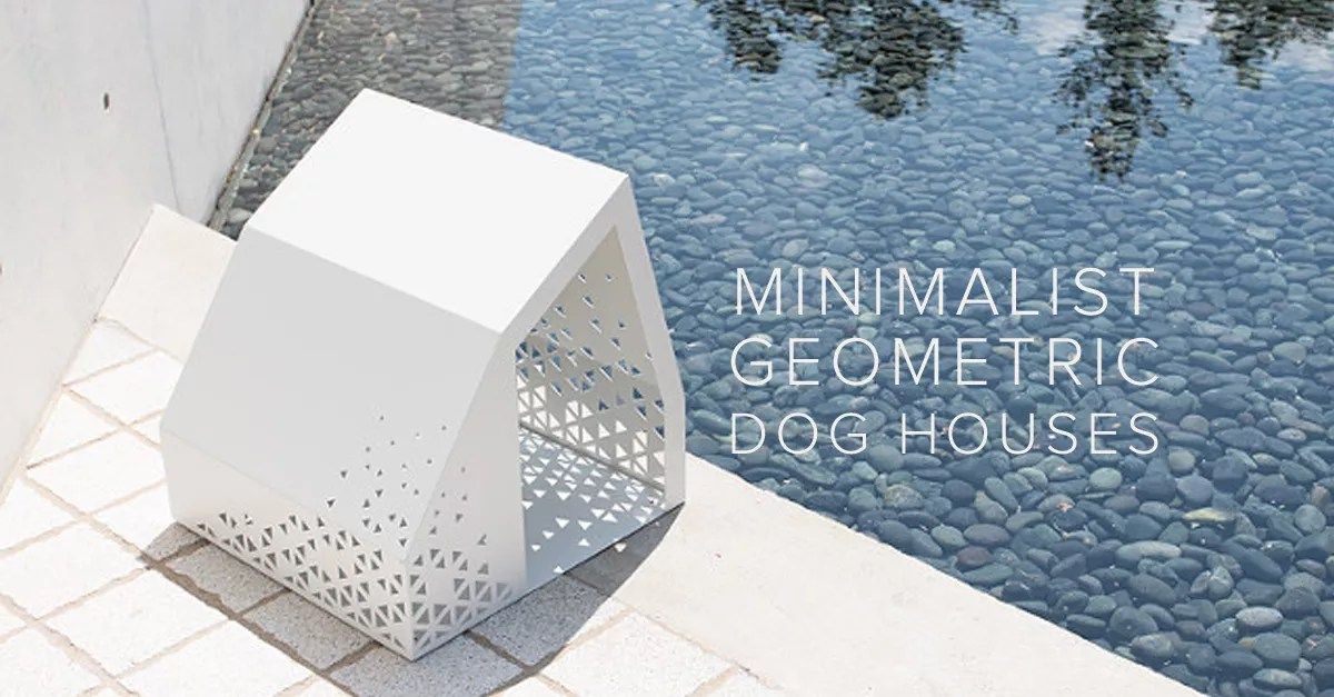 Dog lover? Here are minimalist, geometric dog houses