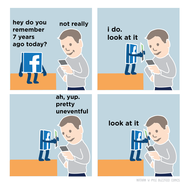 The truth about Facebook: It forces nostalgia on you