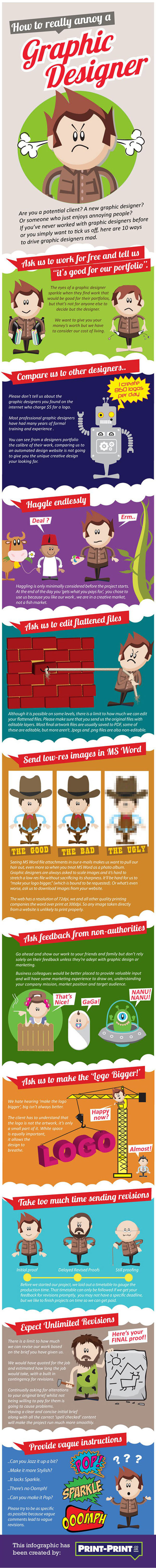 Infographic: How to really annoy a graphic designer