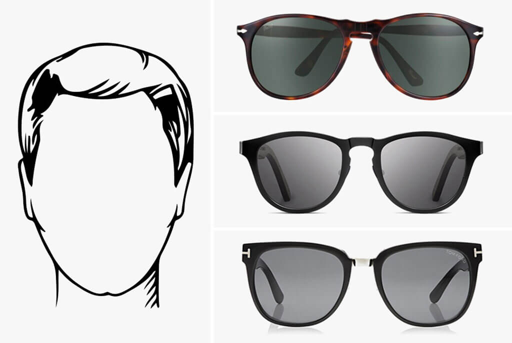 Oval faces sunglass styles