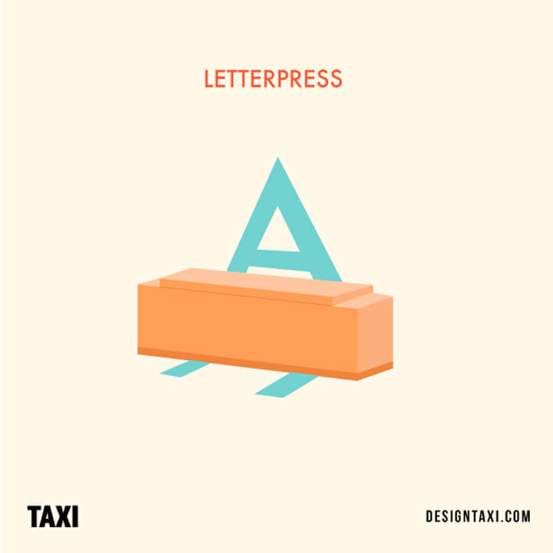 Common design term: Letterpress