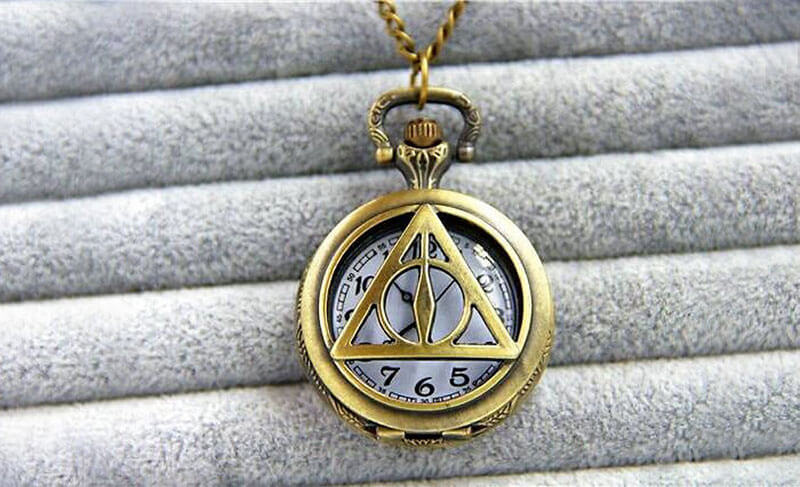 Deathly Hallows Pocket Watch: Harry Potter-themed-jewellery