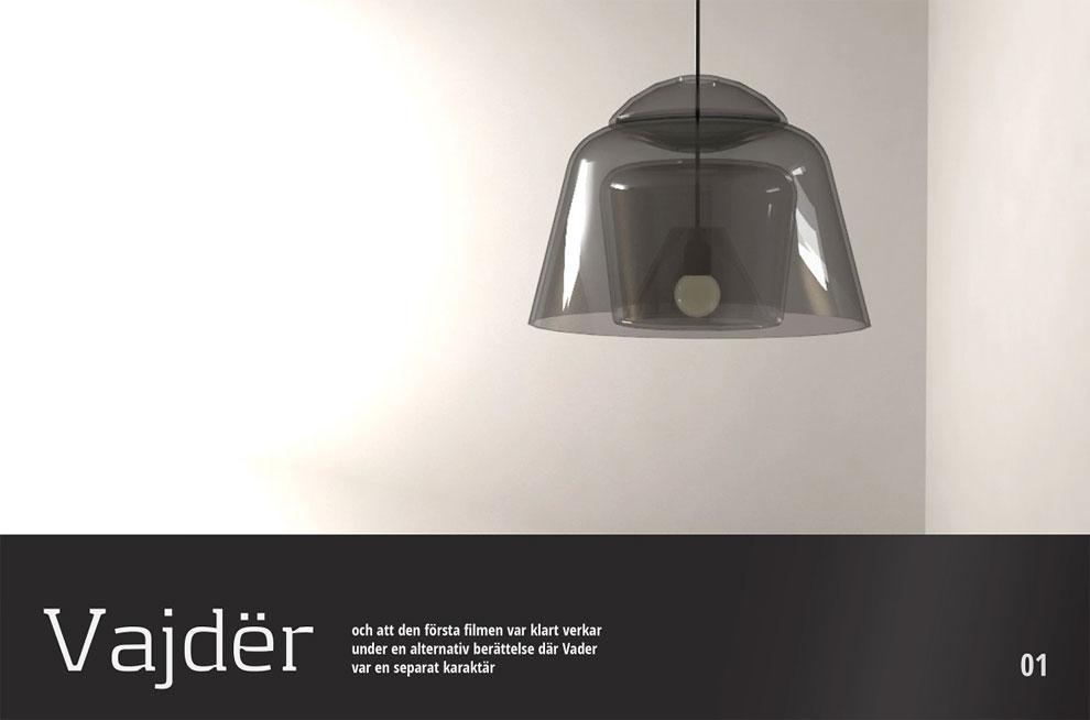 Minimalist lighting fixtures look like Darth Vader