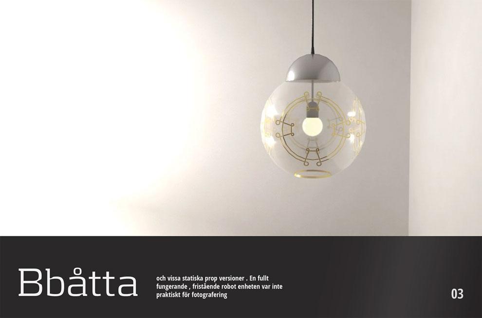 Minimalist lighting fixtures look like BB8