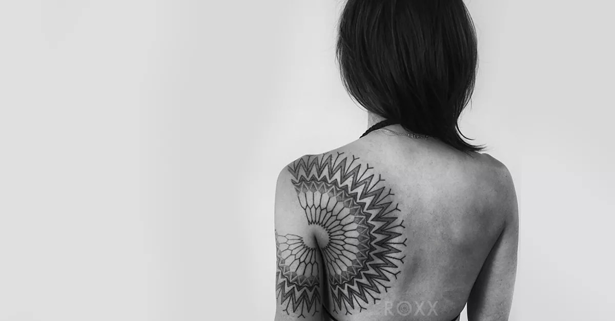 Cool minimalist geometric tattoos
