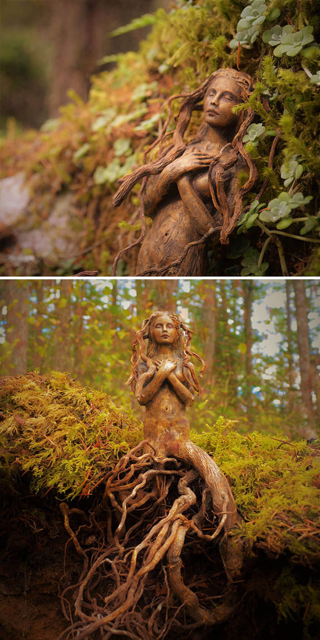 Nature-inspired sculptures by Debra Bernier