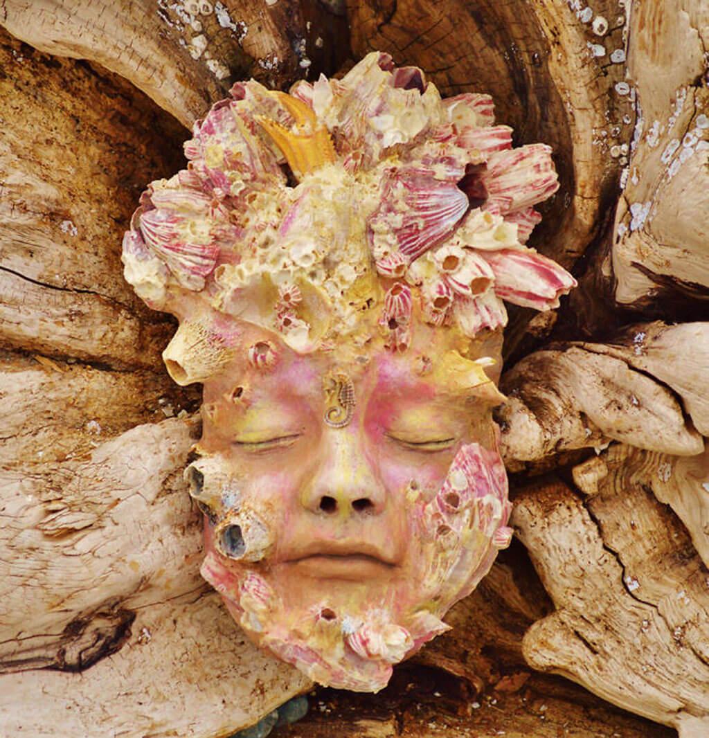 Face in a shell by Debra Bernier