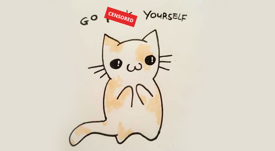 Cute offensive animal greeting cards
