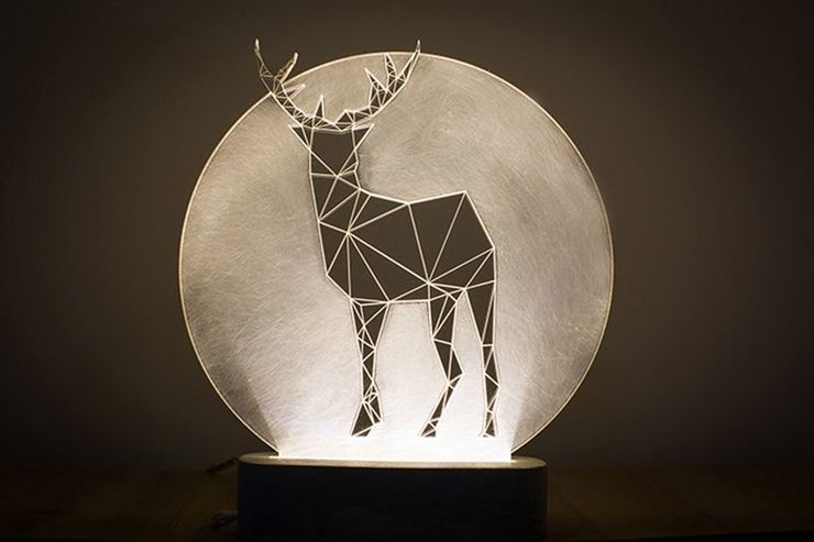 Full Moon Deer Lamp
