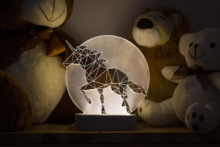 Full Moon Unicorn Lamp