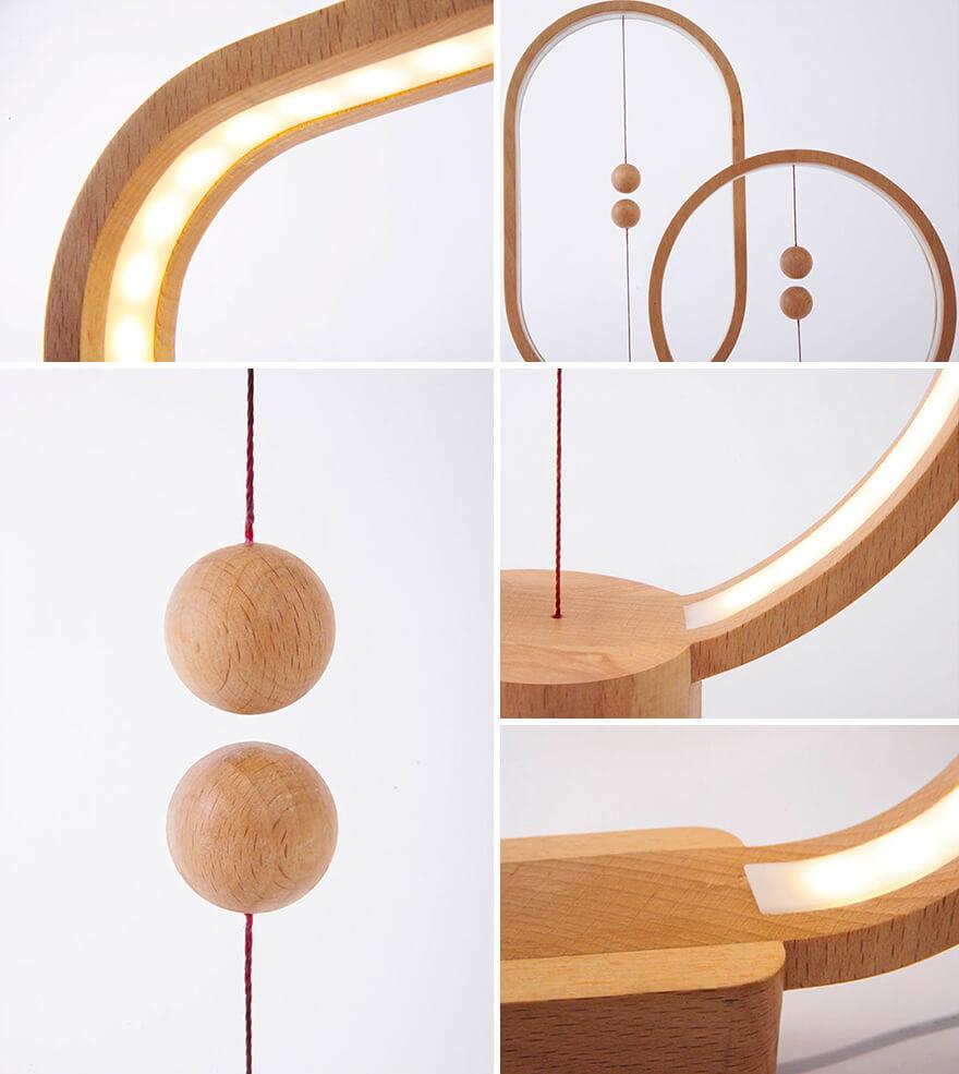 Heng Balance Lamp close up