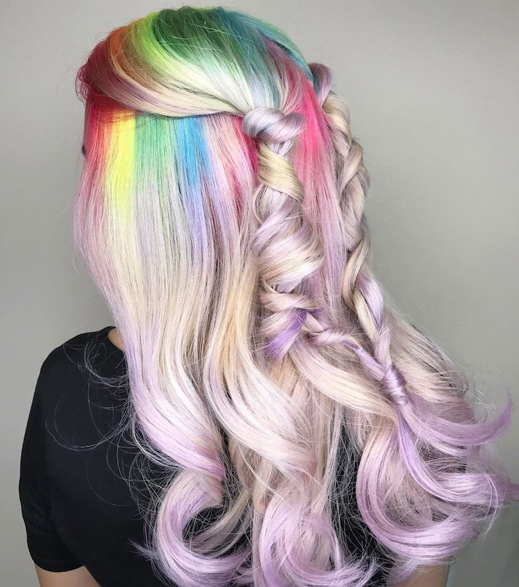 Spring's new hairstyle trend is the colourful Unicorn Hair