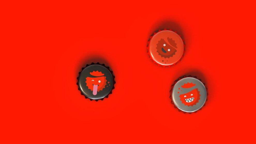 Coca-Cola bottle cap emojis