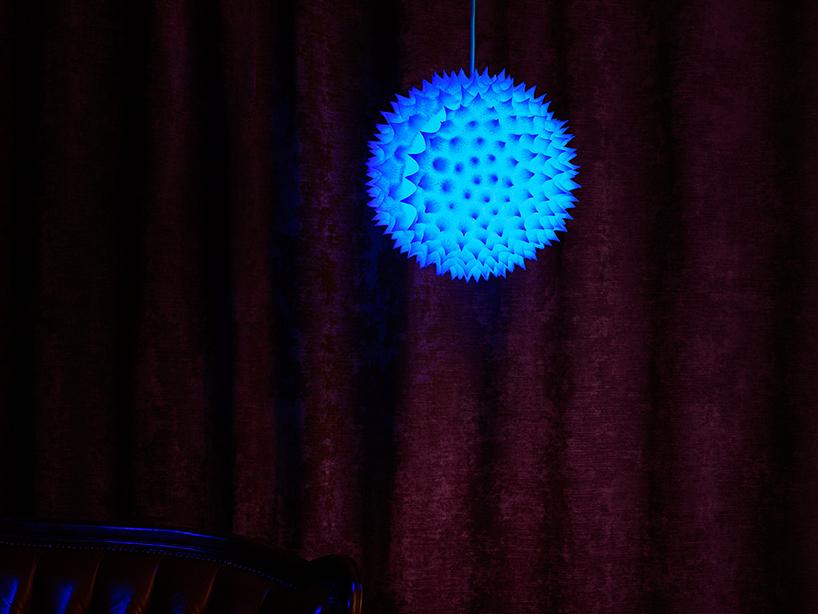 Swiss designers creates lamps inspired by ambrosia pollen grains