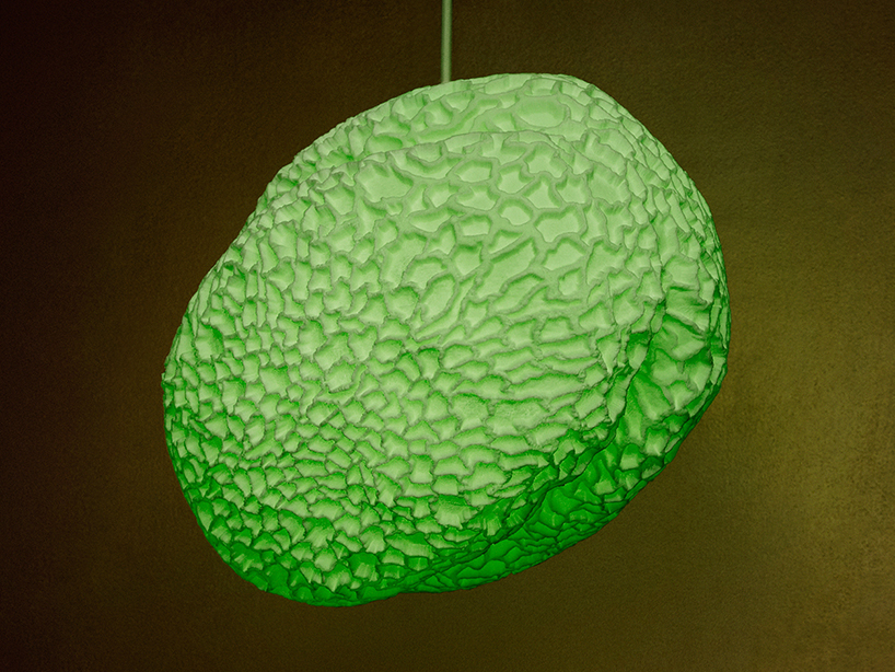 Swiss designers creates lamps inspired by fraxinus pollen grains
