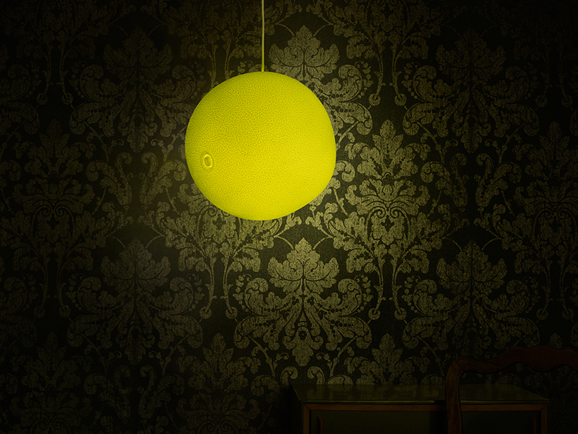 Swiss designers creates lamps inspired by poacaea pollen grains