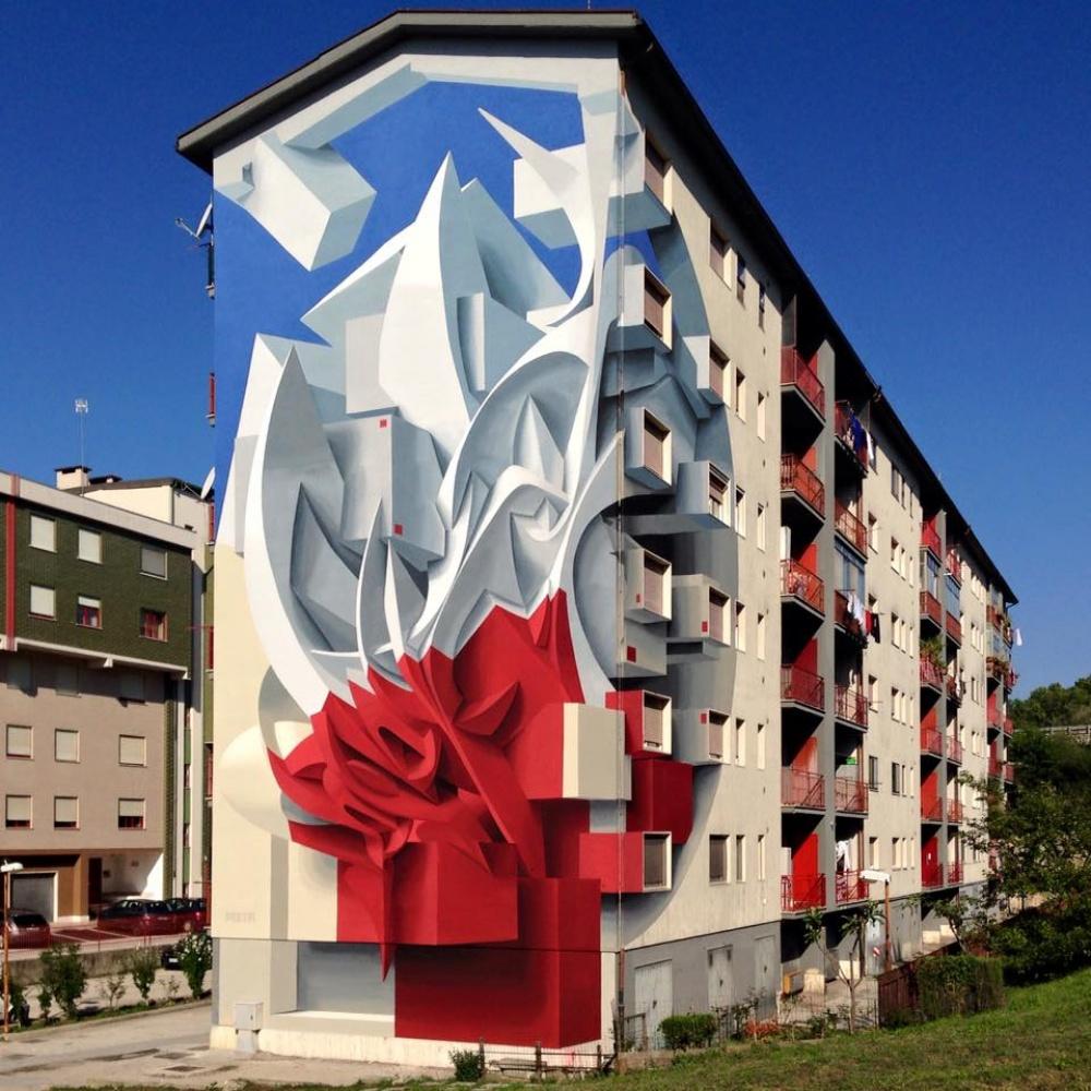 Peeta EAD RWK street art that blurs the border between fantasy and reality