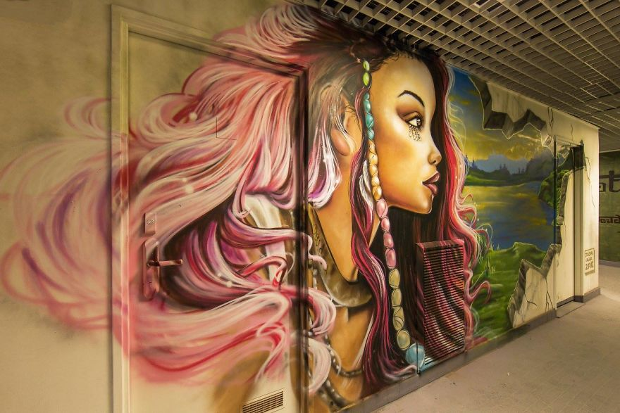 100 graffiti artists asked to paint a school before it's renovated