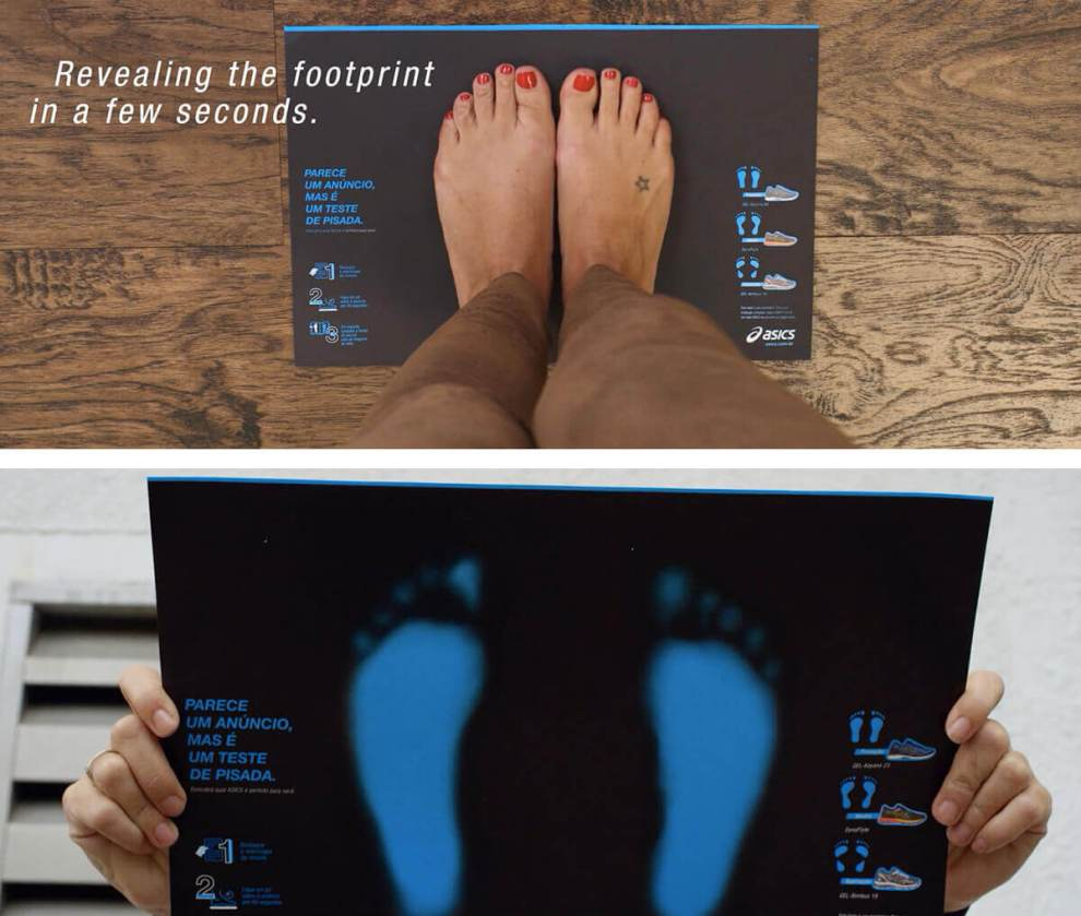 ASICS responsive print ad determines the running shoes you need