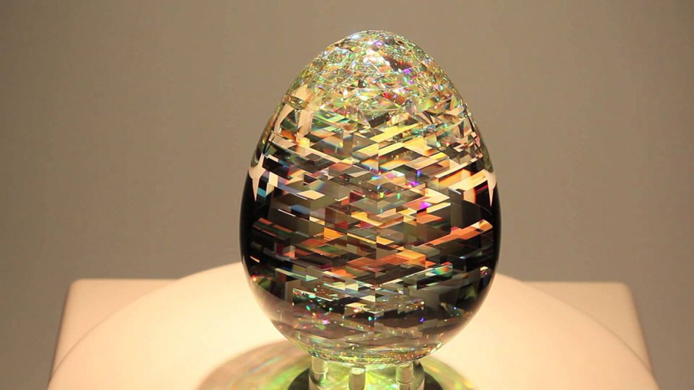 Add sparkle to your room with optical glass sculptures