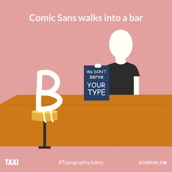 Comic Sans typography puns