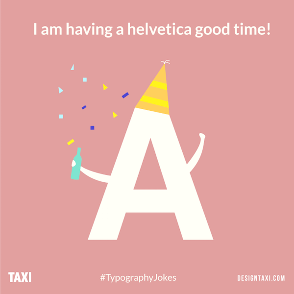Helvetica typography puns