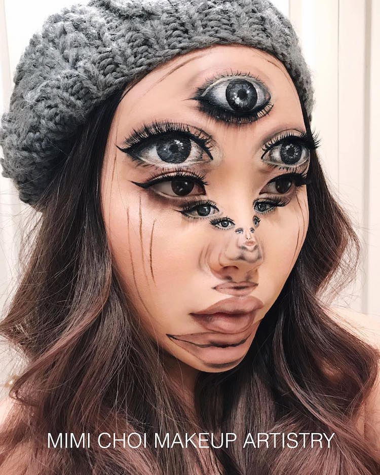 Makeup artist Mimi Choi uses optical illusions to create amazing effects