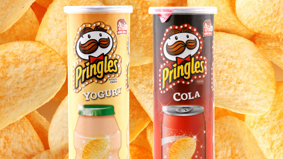 Yogurt and Cola are the newest odd flavours by Pringles
