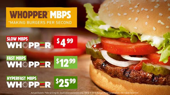 Burger King educates customers on Net Neutrality with the Whopper