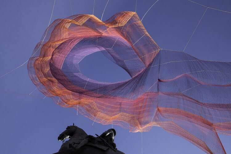 Janet Echelman's Earth Time Series: 600,000 tied knots