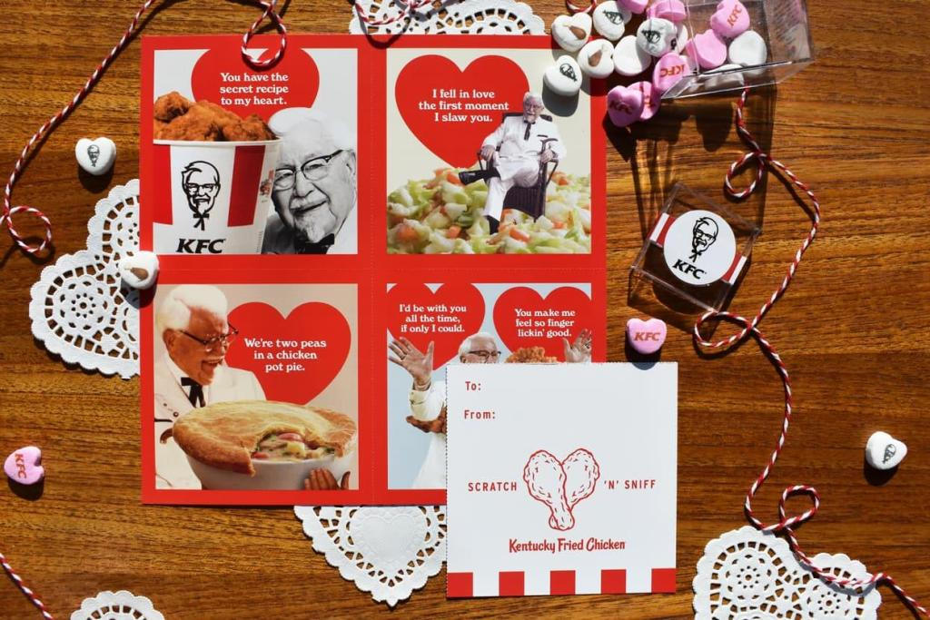 Spice up your Valentine's with KFC's chicken scratch & sniff cards