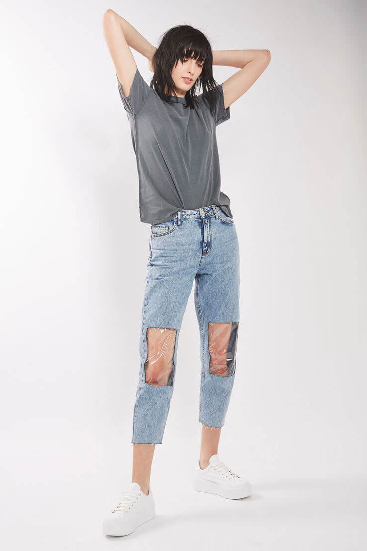 Odd fashion trends for 2017: Clear knee jeans