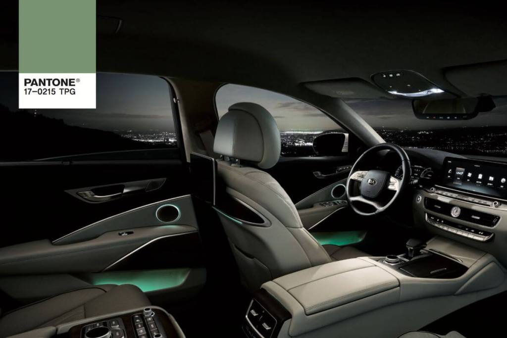 Pantone car interior mood lighting that changes colours as you drive