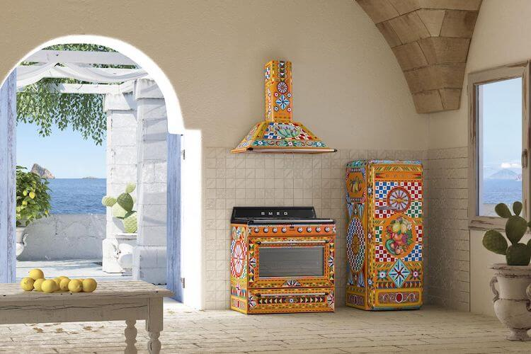 Dolce & Gabbana's Smeg kitchen appliances