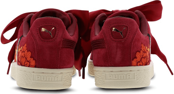 Puma's Japanese-style embroidered
