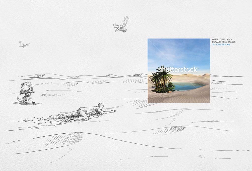 Desert: Shutterstock comes to the rescue