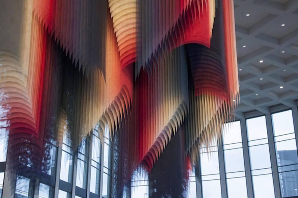 Quintessenz Pixelated Art Installation: Flickering Lights