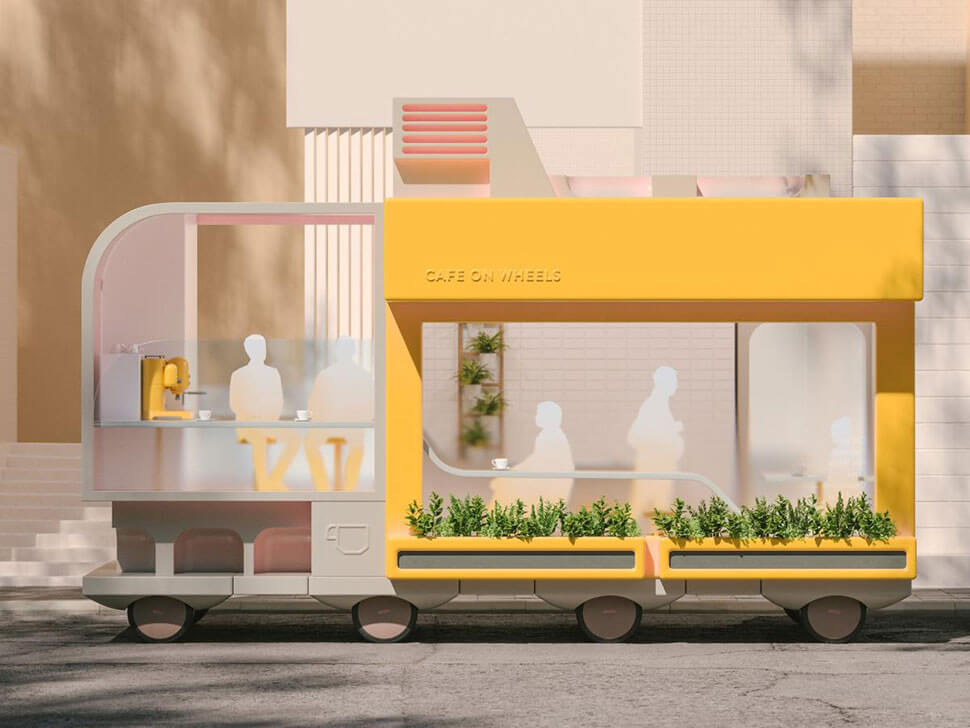 IKEA self-driving cars: Café on Wheels
