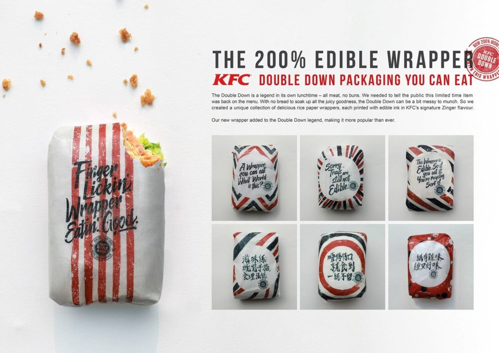 KFC embraces zero waste movement with edible wrappers